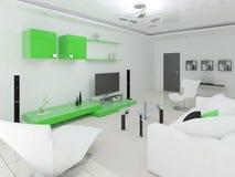 Oryginalny wygodny żywy pokój ilustracji