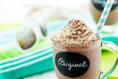 Oryginalny zimny czekoladowy napój zdjęcie stock
