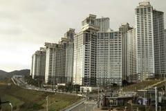 Oryukdo Skywalk à Busan Corée Photographie stock libre de droits