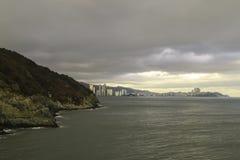 Oryukdo Skywalk в Пусане Корее Стоковые Изображения