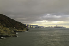 Oryukdo Skywalk en Busán Corea Imagenes de archivo