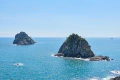 Oryukdo wyspy w Busan Obrazy Stock