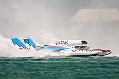 Oryx Cup H1 World Championship Boat racing Royalty Free Stock Photography