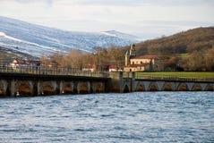 Orzales, Cantabria. Spain. Bridge over Ebro´s reservoir. Orzales, Cantabria. Spain Royalty Free Stock Photos