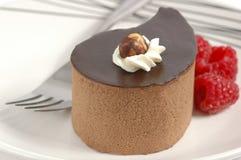 orzech laskowy czekoladowy deser Obrazy Royalty Free