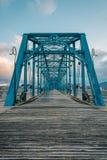 Orzech włoski ulicy most w Chattanogga, Tennessee zdjęcie stock