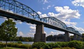 Orzech włoski ulicy most w Chattanooga zdjęcie stock
