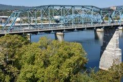 Orzech włoski ulicy most w Chattanooga, Tennessee Zdjęcia Stock