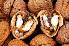 Orzecha włoskiego jedzenia tło. zdjęcie stock