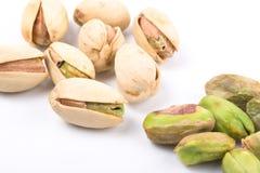orzechy odizolowana pistachio kilka Fotografia Royalty Free