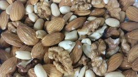 Orzechy włoscy, migdały i arachidy, zbiory wideo