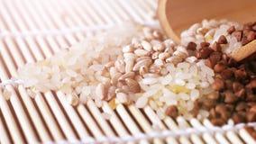 Orzo asciutto, prodotto naturale utile Fotografia Stock