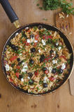 Orzo with peppers and cheese Stock Photography