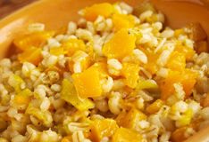 Orzotto con zucca royalty free stock photo