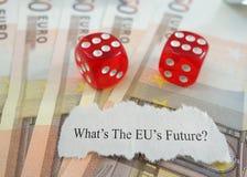 Osäker framtid för EU Royaltyfria Bilder