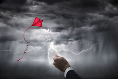 Osäkerhetambitionaffär - riskinvestering Arkivbild