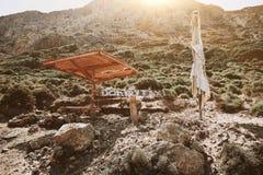 Osła taxi w Crete wyspie, Grecja obrazy royalty free