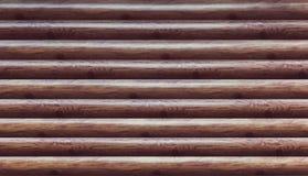 Osłona z ogromną liczbą równoległe drewniane bele Obraz Royalty Free