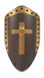 Osłona z złotym krzyżem Obrazy Stock