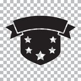 Osłony ikona z faborkiem i gwiazdami również zwrócić corel ilustracji wektora royalty ilustracja