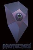 Osłony ikony odcisk palca ochraniający Zdjęcie Stock