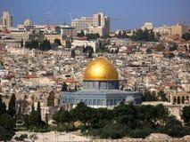 osłony Jerusalem skały linia horyzontu Zdjęcia Stock