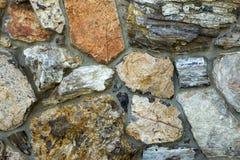 Osłupiały drewno ściany szczegół Zdjęcia Stock