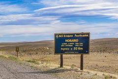 Osłupiały Lasowy park narodowy, Santa Cruz, Argentyna Zdjęcia Stock