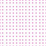 Os às bolinhas vector o teste padrão sem emenda Cor cor-de-rosa Imagens de Stock Royalty Free