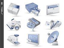 os ícones 3d ajustaram 03 ilustração royalty free