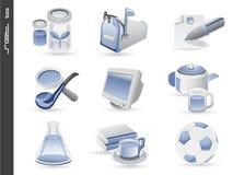 os ícones 3d ajustaram 06 ilustração stock