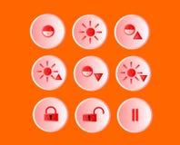 Os ícones Imagens de Stock