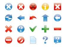 Os ícones ajustaram a ilustração Foto de Stock