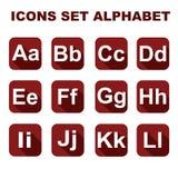 Os ícones ajustaram o alfabeto Imagens de Stock Royalty Free