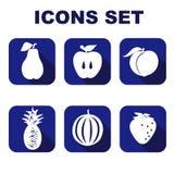 Os ícones ajustaram o alimento Ilustração do vetor Fotografia de Stock Royalty Free