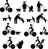 Os ícones ajustaram o redsport e os cães Fotos de Stock