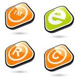 Os ícones ajustaram-se Imagens de Stock Royalty Free