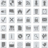 Os ícones ajustaram-se Fotografia de Stock Royalty Free