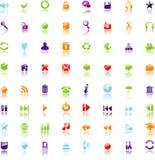 Os ícones ajustaram-se para o Web ilustração royalty free