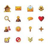 Os ícones básicos do Web do outono ajustaram-se Imagens de Stock Royalty Free