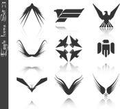 Os ícones da águia ajustaram 3 ilustração do vetor