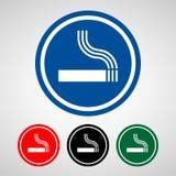 Os ícones da área do fumo ajustaram-se grande para todo o uso Vetor eps10 Imagens de Stock Royalty Free