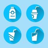 Os ícones da bebida ajustaram-se grande para todo o uso Vetor eps10 Fotos de Stock