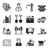 Os ícones da construção ajustaram 1 Fotografia de Stock