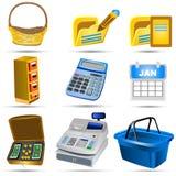 Os ícones da contabilidade ajustaram 5 Fotos de Stock