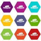 Os ícones da conversação ajustaram o vetor 9 ilustração do vetor