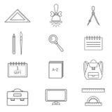 Os ícones da escola ajustaram 2 EPS8 Fotografia de Stock Royalty Free
