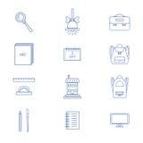 Os ícones da escola ajustaram EPS8 Imagens de Stock