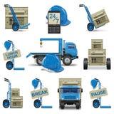 Os ícones da expedição do vetor ajustaram 6 Imagem de Stock Royalty Free