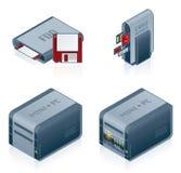 Os ícones da ferragem de computador ajustados - projete os elementos 55c Foto de Stock Royalty Free